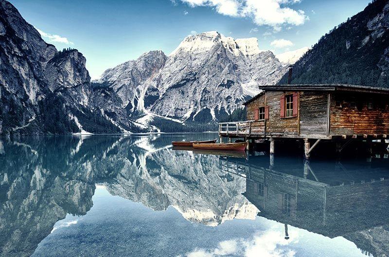Images Du Lac De Braies En Hiver